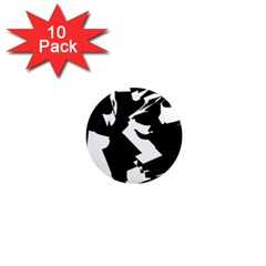 Bw Glitch 2 1  Mini Magnet (10 pack)  by MoreColorsinLife
