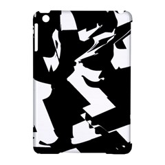 Bw Glitch 2 Apple iPad Mini Hardshell Case (Compatible with Smart Cover) by MoreColorsinLife