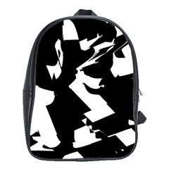 Bw Glitch 2 School Bags (xl)  by MoreColorsinLife