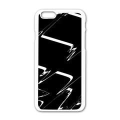 Bw Glitch 3 Apple Iphone 6/6s White Enamel Case by MoreColorsinLife