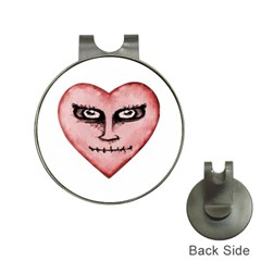 Angry Devil Heart Drawing Print Hat Clips With Golf Markers by dflcprints