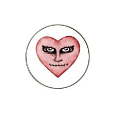 Angry Devil Heart Drawing Print Hat Clip Ball Marker (10 Pack) by dflcprints