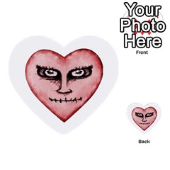Angry Devil Heart Drawing Print Multi Purpose Cards (heart)  by dflcprints