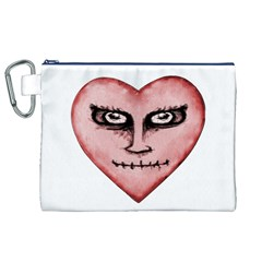 Angry Devil Heart Drawing Print Canvas Cosmetic Bag (xl)  by dflcprints