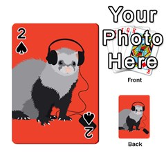 Funny Music Lover Ferret Playing Cards 54 Designs