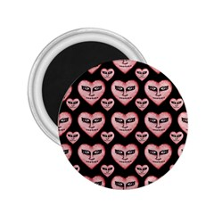 Angry Devil Hearts Seamless Pattern 2 25  Magnets by dflcprints