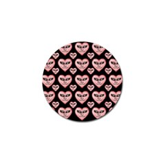Angry Devil Hearts Seamless Pattern Golf Ball Marker (4 Pack) by dflcprints