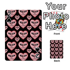Angry Devil Hearts Seamless Pattern Playing Cards 54 Designs