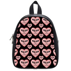 Angry Devil Hearts Seamless Pattern School Bags (small)  by dflcprints