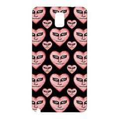Angry Devil Hearts Seamless Pattern Samsung Galaxy Note 3 N9005 Hardshell Back Case by dflcprints