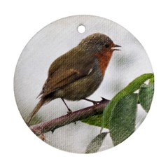Robin Round Ornament by DeneWestUK