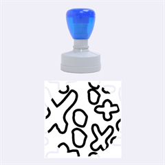 Blue Maths Signs Rubber Round Stamps (medium) by maregalos