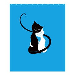 Blue Hugging Love Cats Shower Curtain 60  X 72  (medium)