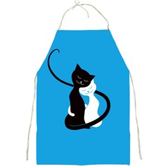 Blue Hugging Love Cats Full Print Aprons