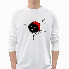 Dancing Evil Christmas Bug White Long Sleeve T Shirts