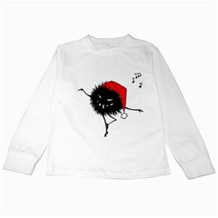 Dancing Evil Christmas Bug Kids Long Sleeve T Shirts