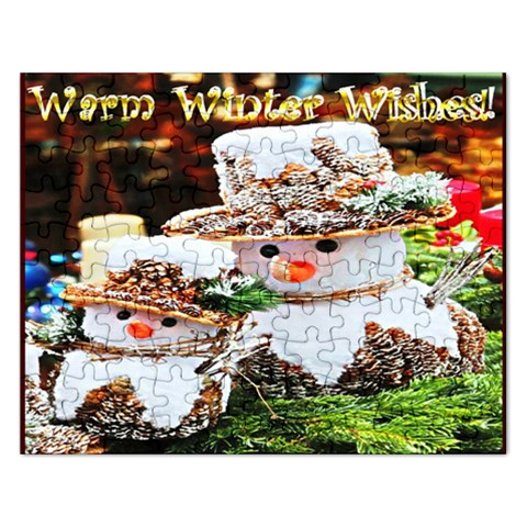 Warm Winter Wishes Snowmen Puzzle By Pamela Sue Goforth   Jigsaw Puzzle (rectangular)   9dyjjvpul1fb   Www Artscow Com Front