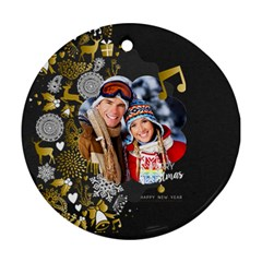 Xmas By Debe Lee   Round Ornament (two Sides)   03rm90mhx0dc   Www Artscow Com Back