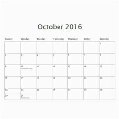 Calendar By Royce Piggott   Wall Calendar 11  X 8 5  (12 Months)   Qdmojcndy2ib   Www Artscow Com Oct 2016