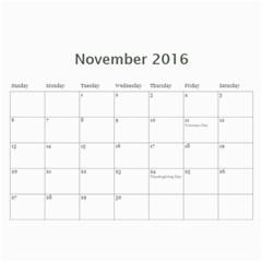 Calendar By Royce Piggott   Wall Calendar 11  X 8 5  (12 Months)   Qdmojcndy2ib   Www Artscow Com Nov 2016
