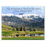 May the losness  of friends anf dthe comfort of home renew your spirit ! Puzzell - Jigsaw Puzzle (Rectangular)