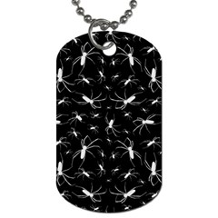 Spiders Seamless Pattern Illustration Dog Tag (One Side) by dflcprints