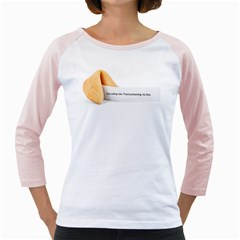 Fortune Cookie Women s Long Cap Sleeve T-Shirt (White)  by typewriter