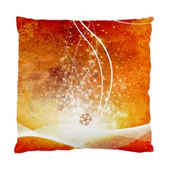 Wonderful Christmas Design With Snowflakes  Standard Cushion Case (one Side)  by FantasyWorld7