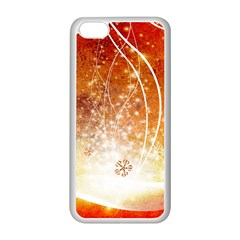 Wonderful Christmas Design With Snowflakes  Apple Iphone 5c Seamless Case (white) by FantasyWorld7