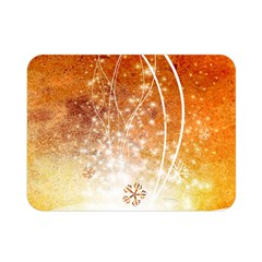 Wonderful Christmas Design With Snowflakes  Double Sided Flano Blanket (mini)  by FantasyWorld7