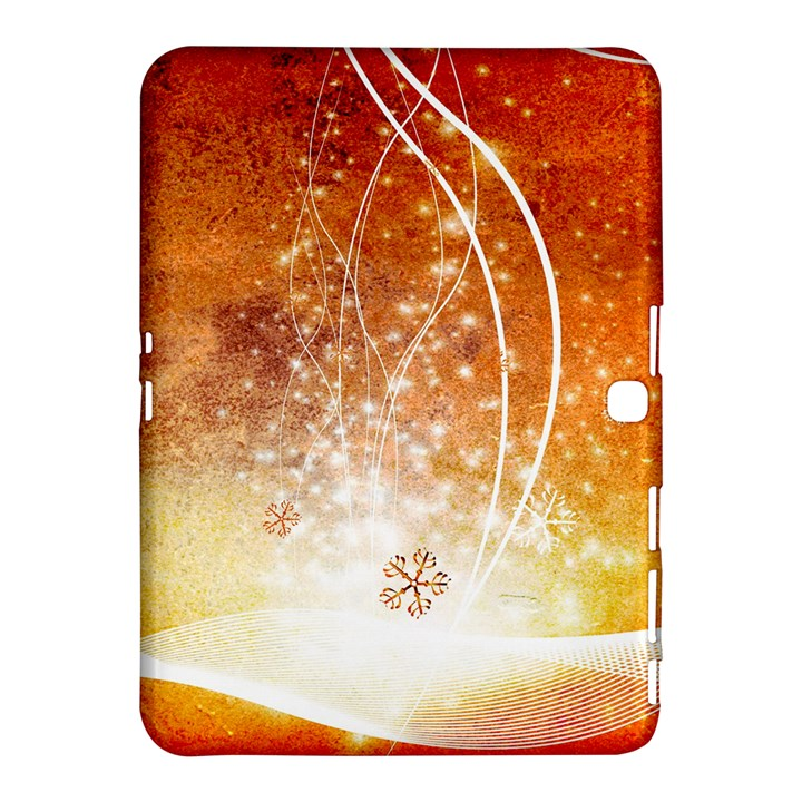 Wonderful Christmas Design With Snowflakes  Samsung Galaxy Tab 4 (10.1 ) Hardshell Case
