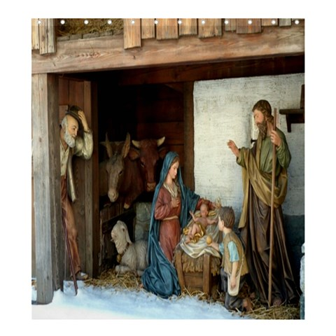 Shower Curtain;  Jeusu Christ Birth Navity By Pamela Sue Goforth   Shower Curtain 66  X 72  (large)   S8t6luz642ye   Www Artscow Com 58.75 x64.8 Curtain