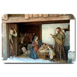 jeusu christ Birth : Door Mat - Large Doormat