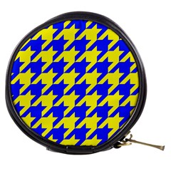 Houndstooth 2 Blue Mini Makeup Bags by MoreColorsinLife