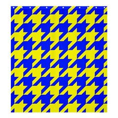 Houndstooth 2 Blue Shower Curtain 66  X 72  (large)  by MoreColorsinLife