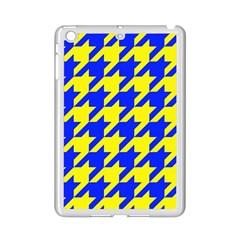 Houndstooth 2 Blue iPad Mini 2 Enamel Coated Cases by MoreColorsinLife