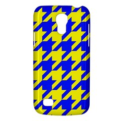 Houndstooth 2 Blue Galaxy S4 Mini by MoreColorsinLife