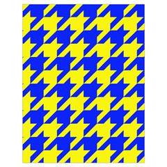 Houndstooth 2 Blue Drawstring Bag (large) by MoreColorsinLife