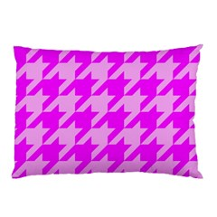 Houndstooth 2 Pink Pillow Cases by MoreColorsinLife