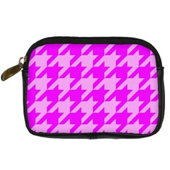 Houndstooth 2 Pink Digital Camera Cases by MoreColorsinLife
