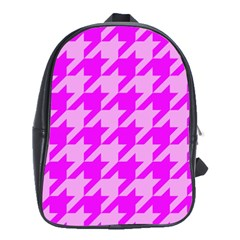 Houndstooth 2 Pink School Bags(large)  by MoreColorsinLife