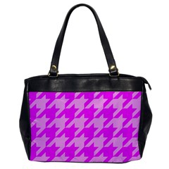 Houndstooth 2 Pink Office Handbags by MoreColorsinLife