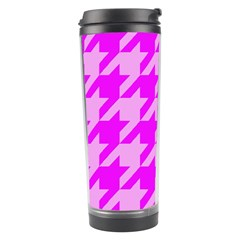 Houndstooth 2 Pink Travel Tumblers by MoreColorsinLife