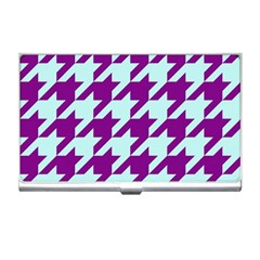 Houndstooth 2 Purple Business Card Holders by MoreColorsinLife