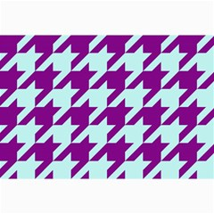Houndstooth 2 Purple Collage 12  X 18