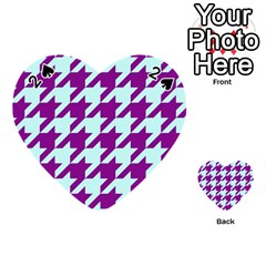 Houndstooth 2 Purple Playing Cards 54 (heart)  by MoreColorsinLife