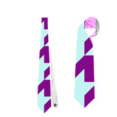 Houndstooth 2 Purple Neckties (One Side)  by MoreColorsinLife
