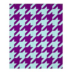 Houndstooth 2 Purple Shower Curtain 60  X 72  (medium)  by MoreColorsinLife