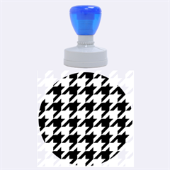 Houndstooth 2 Purple Rubber Round Stamps (large) by MoreColorsinLife