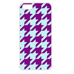 Houndstooth 2 Purple Apple Iphone 5 Seamless Case (white) by MoreColorsinLife